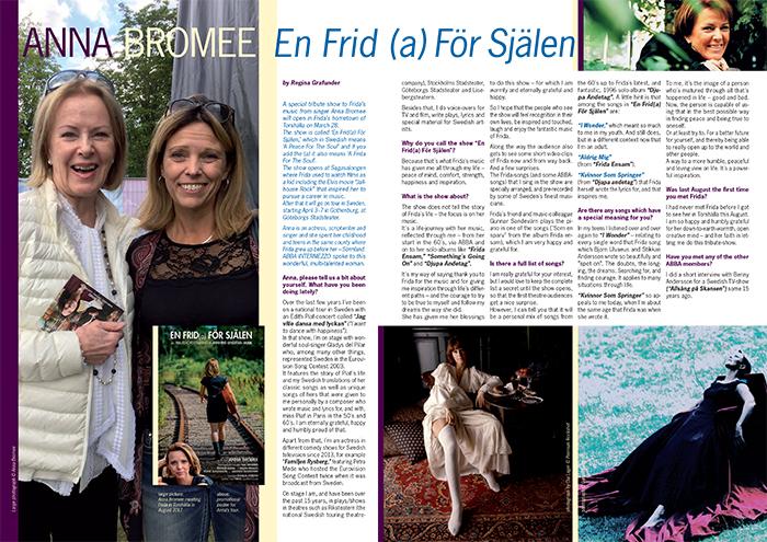 Intervju i INTERMEZZO, ABBA fan magazine